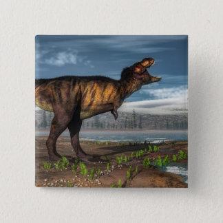 Tyrannosaurus rex 15 cm square badge