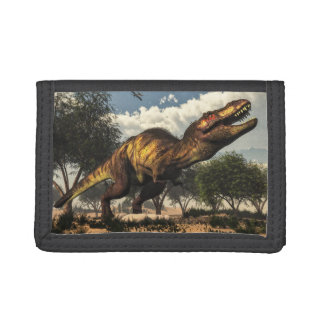Tyrannosaurus rex and its eggs tri-fold wallets