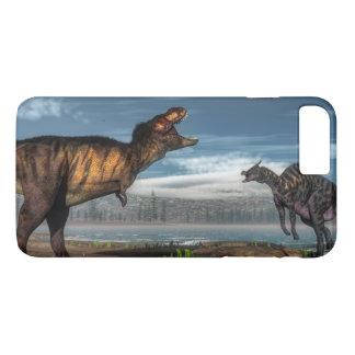 Tyrannosaurus rex and saurolophus dinosaurs iPhone 8 plus/7 plus case