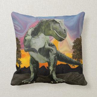 Tyrannosaurus Rex at the Twilight Hour Cushion