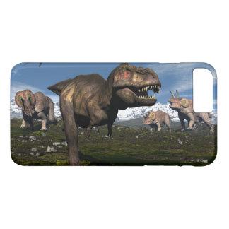 Tyrannosaurus rex attacked by triceratops dinosaur iPhone 8 plus/7 plus case