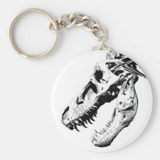 Tyrannosaurus Rex Basic Round Button Key Ring