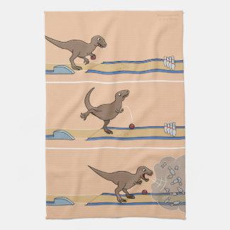 Tyrannosaurus Rex Bowling Kitchen Towel
