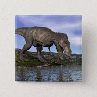 Tyrannosaurus rex dinosaur - 3D render 15 Cm Square Badge