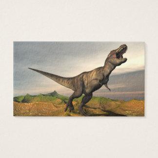 Tyrannosaurus rex dinosaur - 3D render Business Card