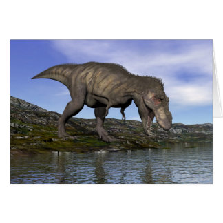Tyrannosaurus rex dinosaur - 3D render Card