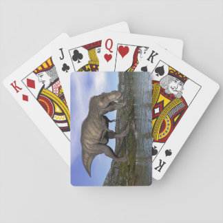 Tyrannosaurus rex dinosaur - 3D render Playing Cards