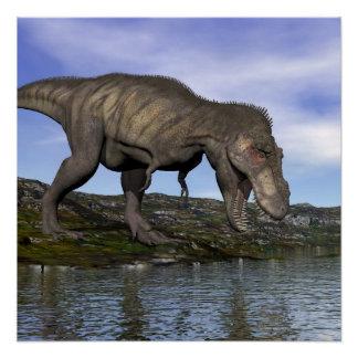 Tyrannosaurus rex dinosaur - 3D render Poster