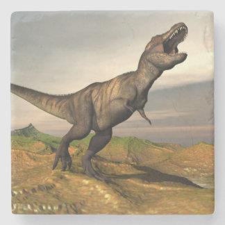 Tyrannosaurus rex dinosaur - 3D render Stone Coaster