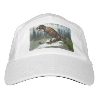 Tyrannosaurus rex dinosaur attacked by deinosuchus hat