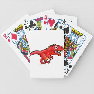 Tyrannosaurus Rex Dinosaur Cartoon Character Bicycle Playing Cards