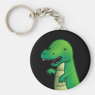 Tyrannosaurus Rex Dinosaur cartoon Key Ring