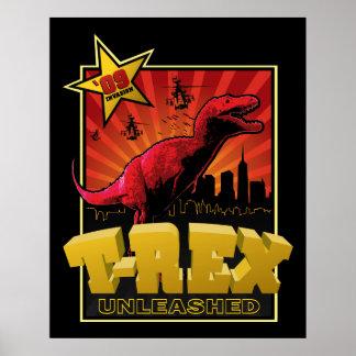 Tyrannosaurus Rex Dinosaur  Invasion Poster