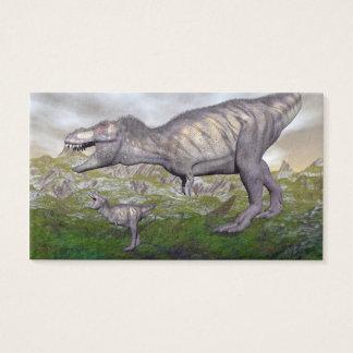 Tyrannosaurus rex dinosaur mum and baby- 3D render Business Card