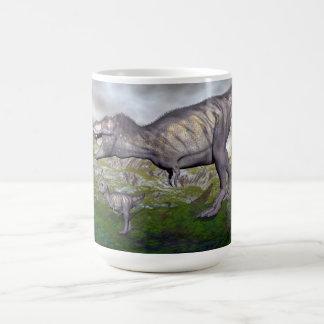 Tyrannosaurus rex dinosaur mum and baby- 3D render Coffee Mug