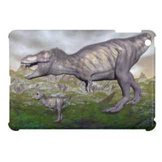 Tyrannosaurus rex dinosaur mum and baby- 3D render iPad Mini Cases