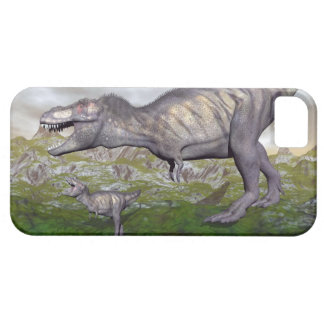 Tyrannosaurus rex dinosaur mum and baby- 3D render iPhone 5 Cover
