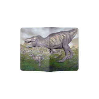 Tyrannosaurus rex dinosaur mum and baby- 3D render Passport Holder