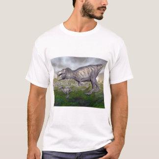 Tyrannosaurus rex dinosaur mum and baby- 3D render T-Shirt