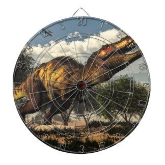 Tyrannosaurus rex dinosaur protecting its eggs dartboard