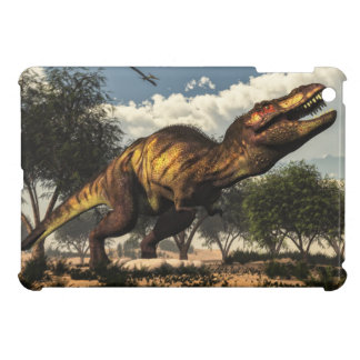 Tyrannosaurus rex dinosaur protecting its eggs iPad mini cases