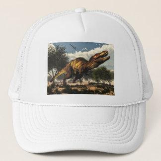 Tyrannosaurus rex dinosaur protecting its eggs trucker hat