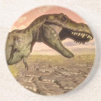 Tyrannosaurus rex dinosaur roaring coaster