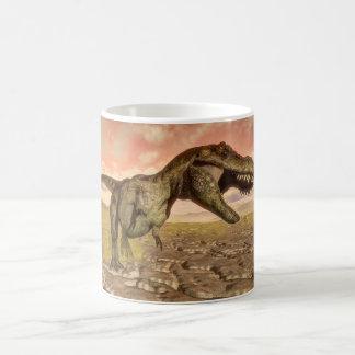 Tyrannosaurus rex dinosaur roaring coffee mug