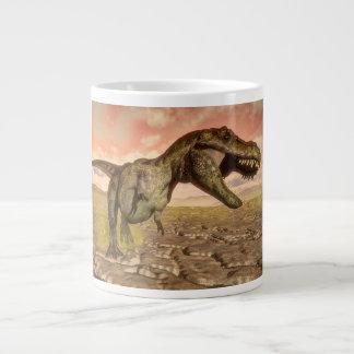 Tyrannosaurus rex dinosaur roaring large coffee mug