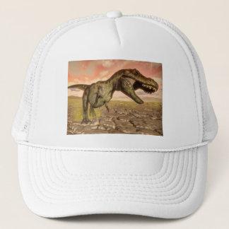 Tyrannosaurus rex dinosaur roaring trucker hat