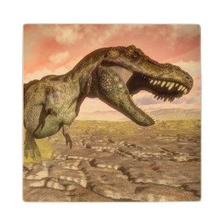 Tyrannosaurus rex dinosaur roaring wood coaster