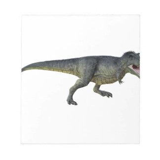 Tyrannosaurus Rex Dinosaur Running in Profile Notepad