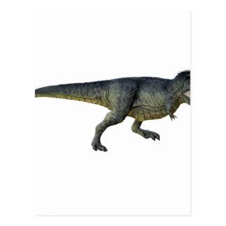 Tyrannosaurus Rex Dinosaur Running in Profile Postcard