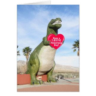 "Tyrannosaurus Rex Dinosaur Valentines Card (5"" X7"""