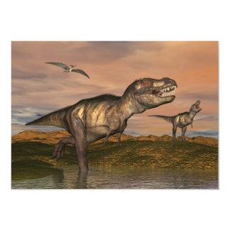 Tyrannosaurus rex dinosaurs - 3D render Card