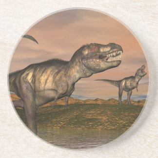 Tyrannosaurus rex dinosaurs - 3D render Coaster