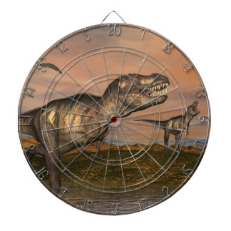 Tyrannosaurus rex dinosaurs - 3D render Dartboard