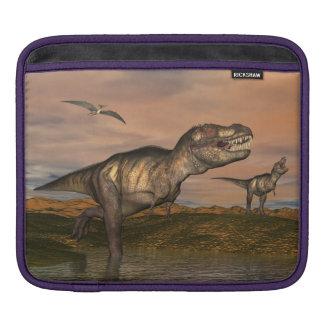 Tyrannosaurus rex dinosaurs - 3D render iPad Sleeve