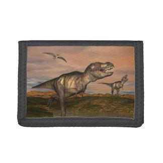Tyrannosaurus rex dinosaurs - 3D render Tri-fold Wallets
