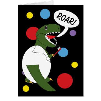 Tyrannosaurus Rex Dinousaur Dentist Personalize Card