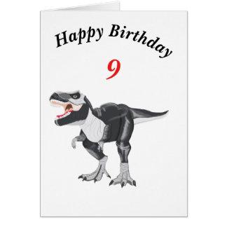 Tyrannosaurus Rex Editable Card with age