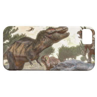 Tyrannosaurus rex escaping from triceratops attack iPhone 5 cases