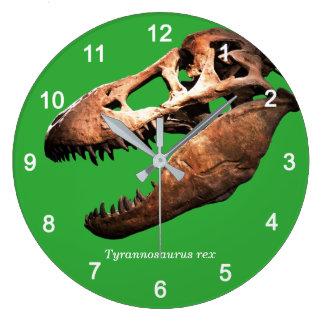 Tyrannosaurus rex large clock