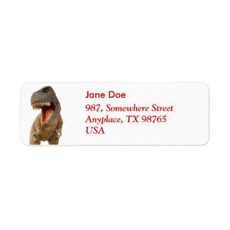 Tyrannosaurus Rex Return Address Label