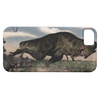 Tyrannosaurus rex roaring at a triceratops iPhone 5 case