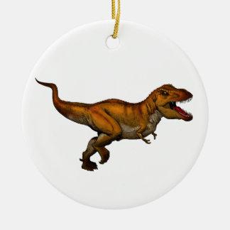 Tyrannosaurus Rex Running T-Rex Ceramic Ornament