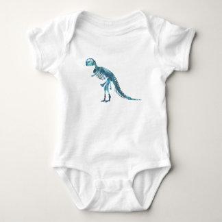 Tyrannosaurus rex skeleton art baby bodysuit