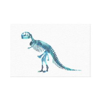 Tyrannosaurus rex skeleton art canvas print