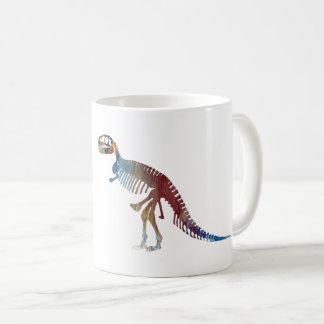 Tyrannosaurus rex skeleton art coffee mug