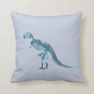 Tyrannosaurus rex skeleton art cushion
